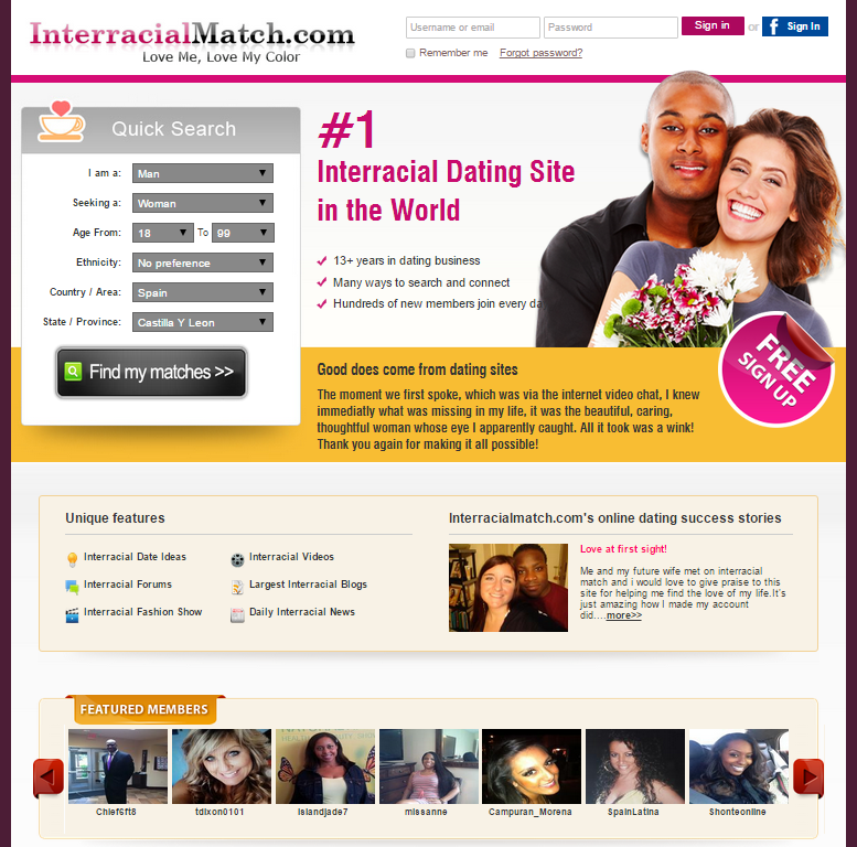 Interracial online dating success stories